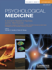 Psychological Medicine Volume 51 - Special Issue13 -  Updates on the Genetics of Major Psychiatric Disorders by Early Career Investigators from the Psychiatric Genomics Consortium