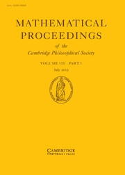 Mathematical Proceedings of the Cambridge Philosophical Society Volume 155 - Issue 1 -