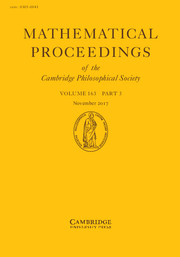 Mathematical Proceedings of the Cambridge Philosophical Society Volume 163 - Issue 3 -