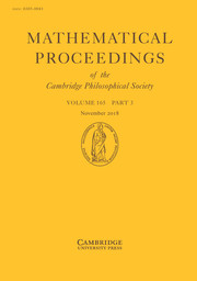 Mathematical Proceedings of the Cambridge Philosophical Society Volume 165 - Issue 3 -