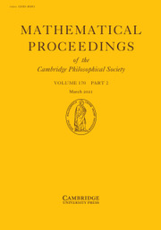 Mathematical Proceedings of the Cambridge Philosophical Society Volume 170 - Issue 2 -