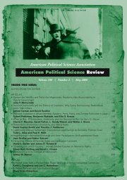 American Political Science Review Volume 100 - Issue 2 -