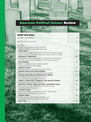American Political Science Review Volume 101 - Issue 2 -