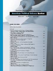 American Political Science Review Volume 101 - Issue 3 -