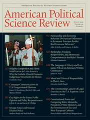 American Political Science Review Volume 103 - Issue 3 -