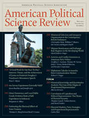 American Political Science Review Volume 104 - Issue 2 -