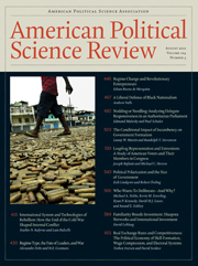 American Political Science Review Volume 104 - Issue 3 -