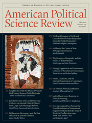 American Political Science Review Volume 105 - Issue 2 -