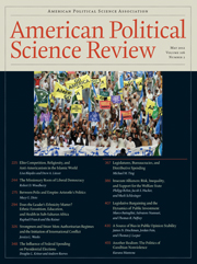 American Political Science Review Volume 106 - Issue 2 -
