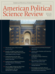 American Political Science Review Volume 106 - Issue 3 -