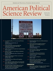 American Political Science Review Volume 107 - Issue 3 -