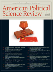 American Political Science Review Volume 108 - Issue 2 -
