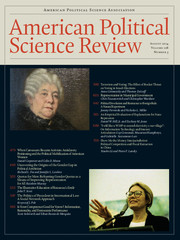 American Political Science Review Volume 108 - Issue 3 -
