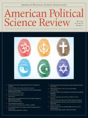 American Political Science Review Volume 109 - Issue 2 -