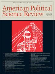 American Political Science Review Volume 109 - Issue 3 -
