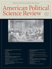 American Political Science Review Volume 110 - Issue 2 -