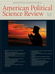 American Political Science Review Volume 111 - Issue 3 -