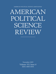American Political Science Review Volume 113 - Issue 4 -
