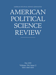 American Political Science Review Volume 114 - Issue 2 -