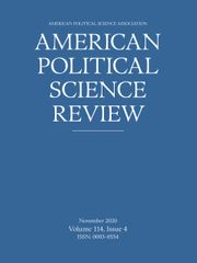 American Political Science Review Volume 114 - Issue 4 -