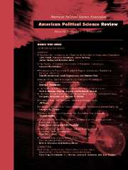 American Political Science Review Volume 98 - Issue 1 -