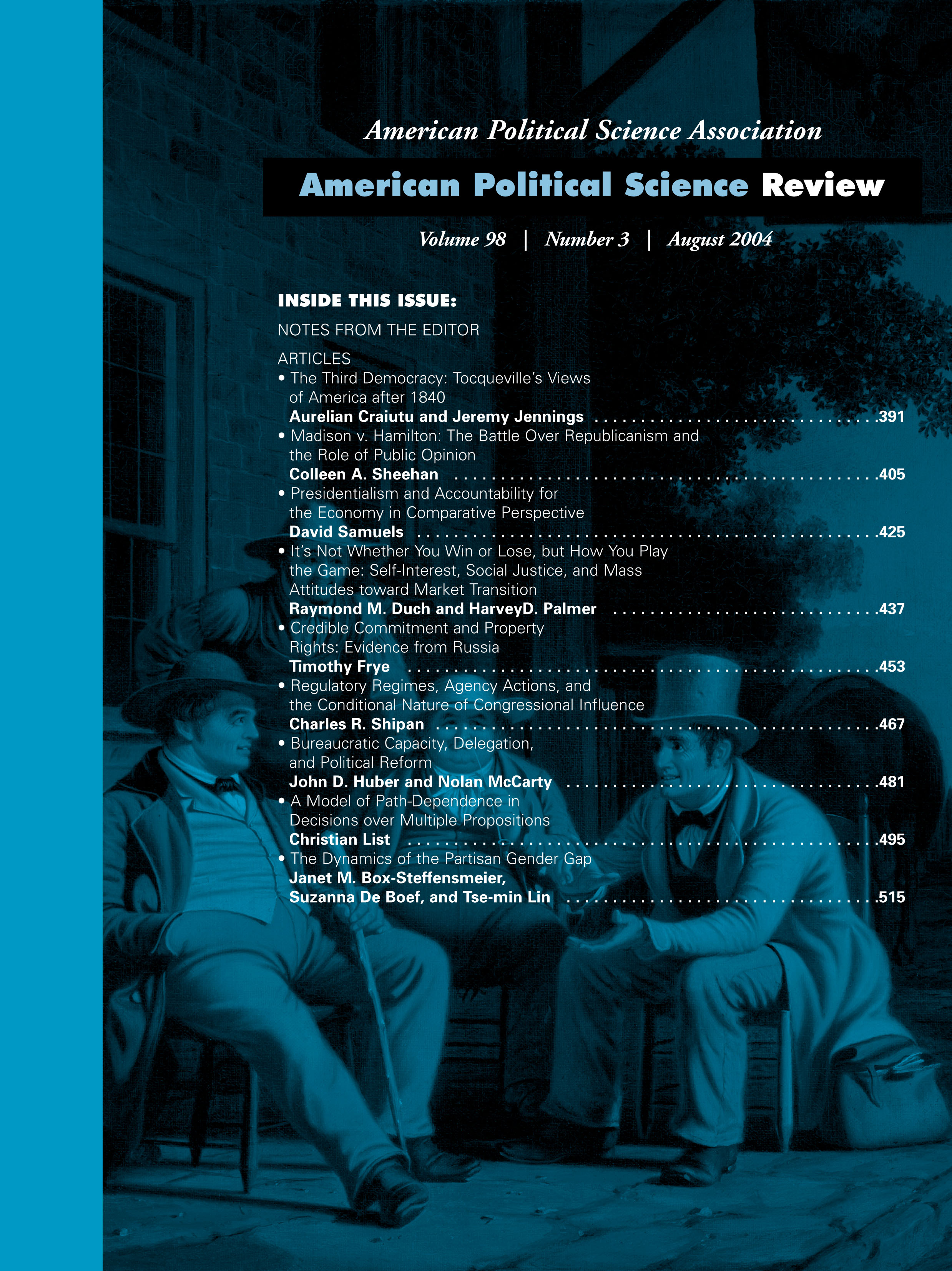 American Political Science Review Volume 98 - Issue 3 -