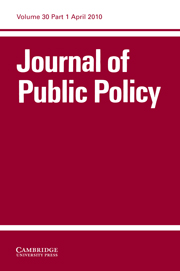Journal of Public Policy Volume 30 - Issue 1 -  Performing to Type? Institutional Performance in New EU Member States