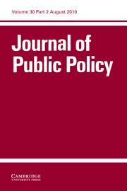 Journal of Public Policy Volume 30 - Issue 2 -