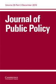 Journal of Public Policy Volume 30 - Issue 3 -
