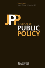 Journal of Public Policy Volume 37 - Issue 4 -