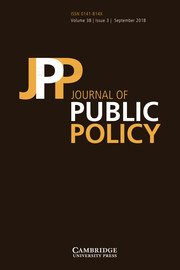 Journal of Public Policy Volume 38 - Issue 3 -
