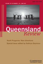 Queensland Review Volume 24 - Special Issue1 -  Youth Programs: New directions