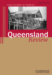 Queensland Review Volume 25 - Issue 2 -