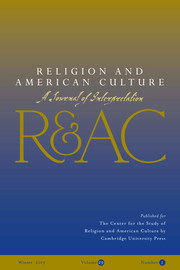 Religion and American Culture Volume 29 - Issue 1 -