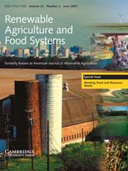 Renewable Agriculture and Food Systems Volume 22 - Issue 2 -