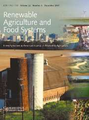 Renewable Agriculture and Food Systems Volume 22 - Issue 4 -