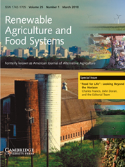 """Renewable Agriculture and Food Systems Volume 25 - Issue 1 -  """"Food for Life"""": Looking Beyond the Horizon"""