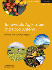 Renewable Agriculture and Food Systems Volume 29 - Issue 2 -