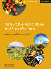 Renewable Agriculture and Food Systems Volume 29 - Issue 4 -
