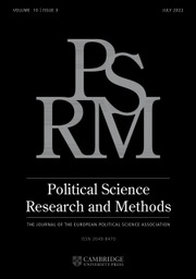 Political Science Research and Methods