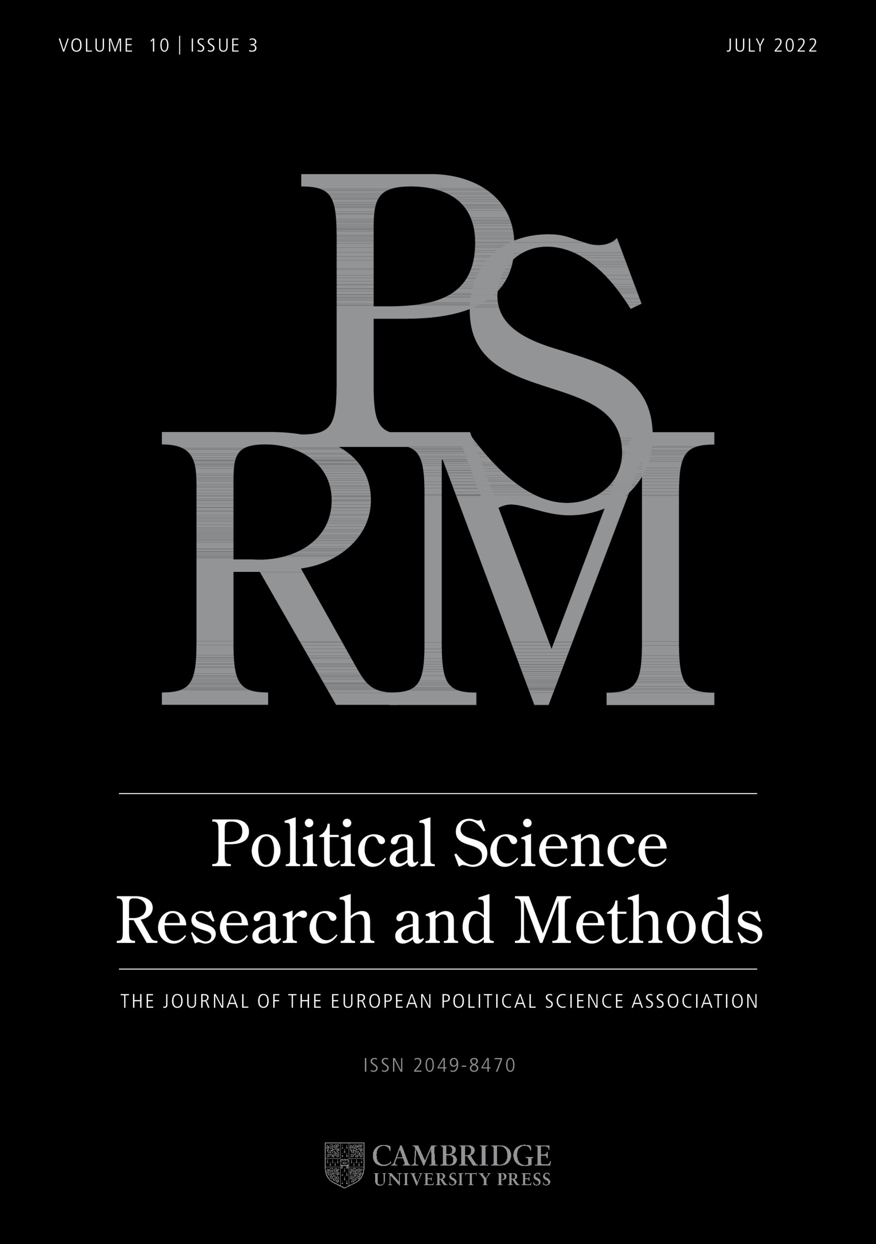 Political Science Research and Methods | Cambridge Core