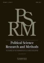 Political Science Research and Methods Volume 5 - Issue 2 -