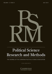 Political Science Research and Methods Volume 5 - Issue 3 -