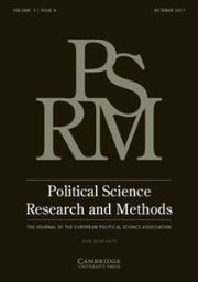 Political Science Research and Methods Volume 5 - Issue 4 -