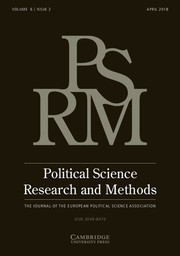 Political Science Research and Methods Volume 6 - Issue 2 -