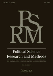 Political Science Research and Methods Volume 6 - Issue 3 -