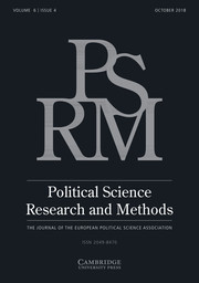 Political Science Research and Methods Volume 6 - Issue 4 -