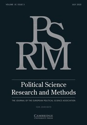 Political Science Research and Methods Volume 8 - Issue 3 -