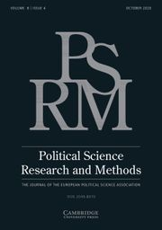 Political Science Research and Methods Volume 8 - Issue 4 -