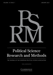 Political Science Research and Methods Volume 9 - Issue 1 -